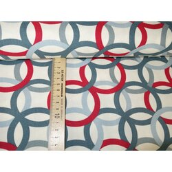 Feiner Canvas Graphic Circles Blue