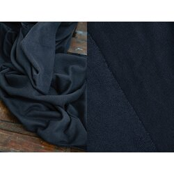 Organic Woolen Fleece Sweat, indigo Night